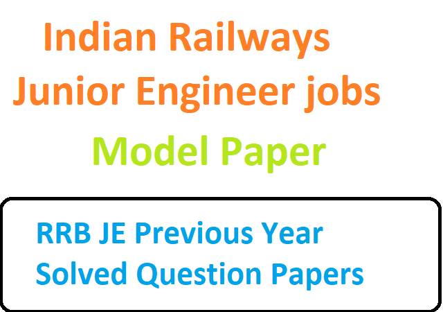 Indian Railways Junior Engineer jobs