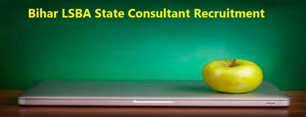 Bihar LSBA State Consultant Recruitment
