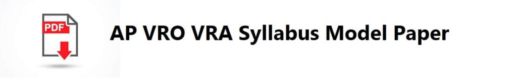 AP VRO VRA Syllabus Model Paper 2020